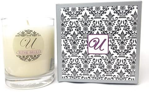 Unrivaled Candles Creme Brulee (8 oz Glass Container) Select-a-Size (Necklace); Jewelry Inside Valued at $10 to $10,000.
