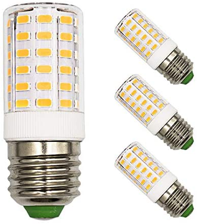 E26 LED Light Bulb for Frigidaire Refrigerator light 7W (60W-100W Equivalent) Non-dimmable Warm White 3000K 1000 Lumen AC100V-265V Home Lighting Candle Base Corn Lamp-Pack of 3
