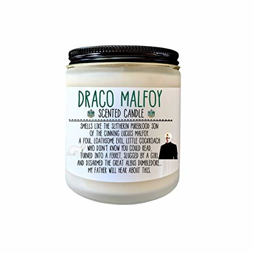 Draco Malfoy Candle Bookish Candle Book Lover Gift for Her Bookish Candle Slytherin Gift