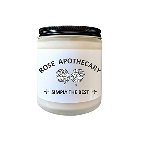 Rose Apothecary Schitts Creek Gift Scented Candle Pop Culture Candle Funny Candle Gift for Her Celebrity Candle Fandom Candle