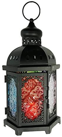 allgala Glass Moroccan Candle Lantern